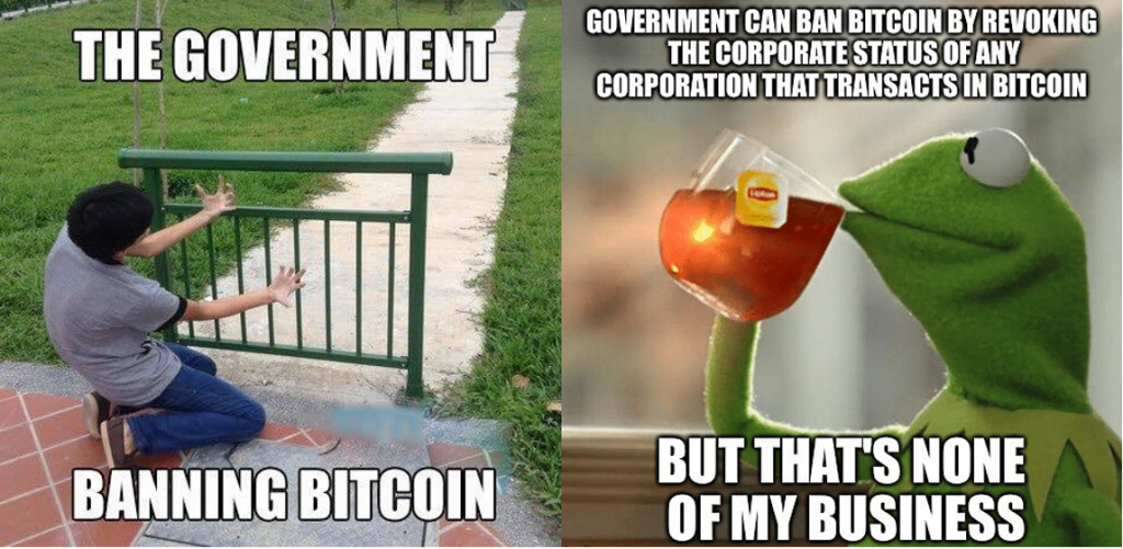 government banning bitcoin